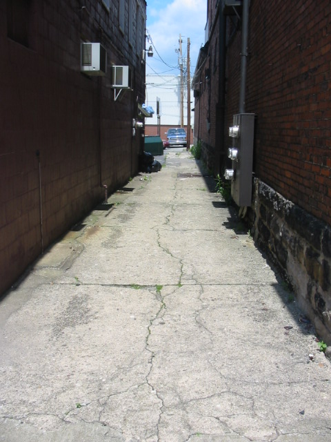 A Thin Alley in Downtown Connellsville - Connellsville, PA