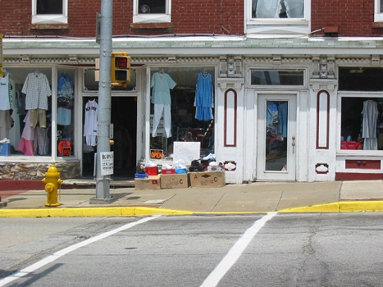 Clothing Store Along Crawford Avenue - Connellsville, PA