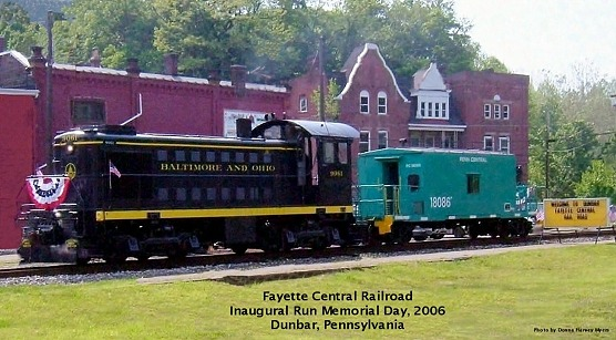 Inaugural Run of Fayette Central Railroad Tourist Train, Dunbar Pennsylvania - Dunbar, PA