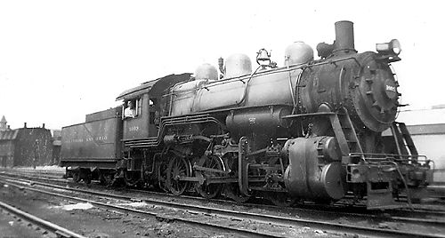 B&O Steam Locomotive - 1930's - 40's - Connellsville, PA