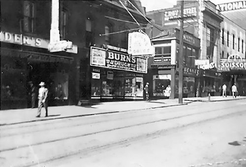 Burns Drug Store, West Crawford Ave.- 1940's - Connellsville, PA