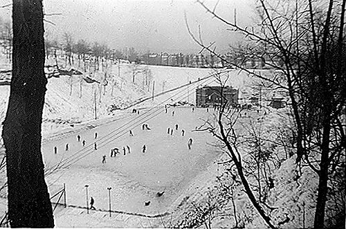 Ice Skaters in Connellsville's East Park 1940's - Connellsville, PA