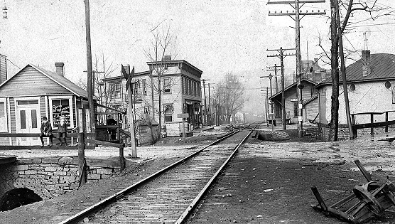 Very Old Downtown Picture - Dunbar, PA