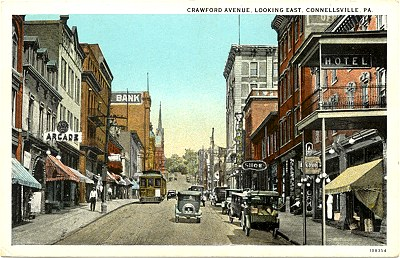 Crawford Ave, Looking East, Connellsville, PA - Connellsville, PA