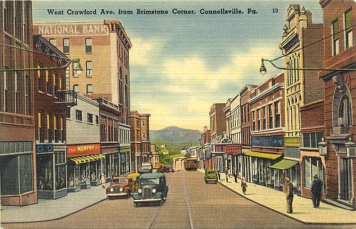 East Crawford Ave. from Brimstone Corner, Connellsville, PA - Connellsville, PA