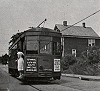 Street Car at Pittsburgh and Wine Streets - South Connellsville, PA Thumbnail